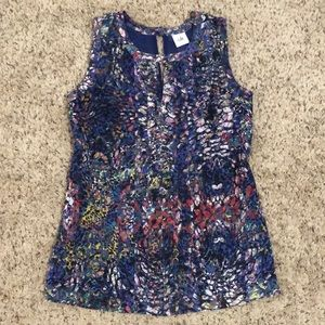 EUC S Cabi Stained Glass Multi Color Blouse Top